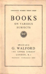 George Walford Book Catalogue