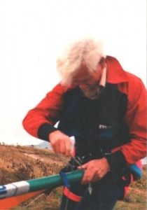George Walford with Hang Glider