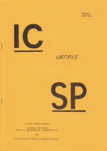 IC versus SP