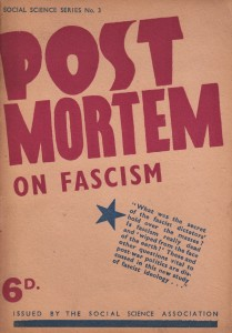 Post-Mortem on Fascism by Morris Richards