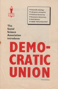 Social Science Association Introduces Democratic Union