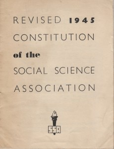 Revised 1945 Constitution of the Social Science Association